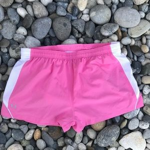 Under Armour Heat Gear Pink Lined Shorts